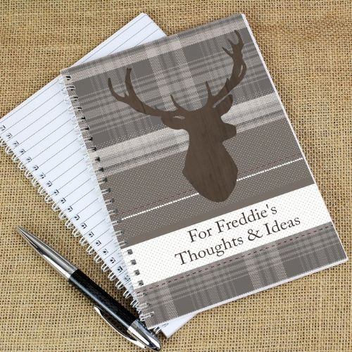 Personalised Highland Stag Notebook